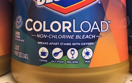 image to demonstrate label of color safe bleach that does not kill parvo